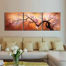 x27 plum blossom 310 x27 hand painted 3 piece gallery