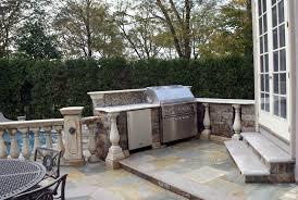 Luxury Outdoor Kitchen Bar Design Upper Saddle River NJ Custom