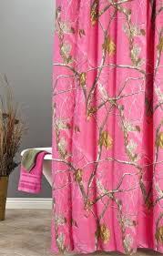 hot pink shower curtain curtains bathroom ruffle chevron bright