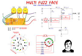 fuzz faeces o 3 rotary switches 1 input cap 2 q1 3 q2