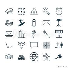 Set Of 25 Universal Editable Icons Can Be Used For Web