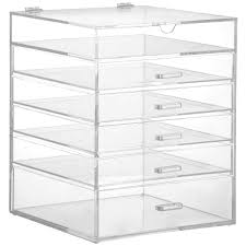 acrylic 5 drawer makeup organizer 10 045 4l drawers sentinel beautify large 6 tier clear cosmetic