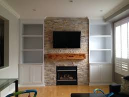 built in fireplace wall units