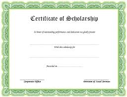 scholarship award certificate templates certificate of scholarship 2 best 10 templates