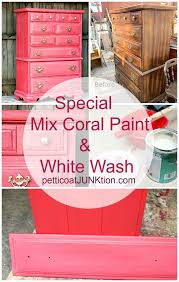 coral furniture. Coral Color Furniture Makeover From The Fixer Uppers With White Wash Paint Technique R