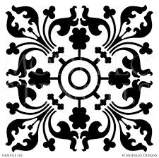 painted tile designs. Exotic And Global Chic Decor Idea - Painted Tile Stencils From Modello Custom Designs