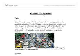 urban pollution causes and solutions gcse geography marked by  document image preview