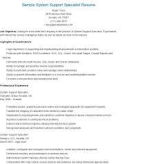 Data Center Specialist Sample Resume