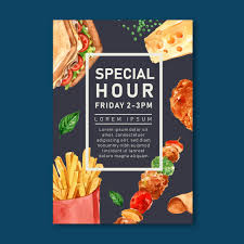 Food Product Poster Design Fast Food Restaurant Poster Design For Decor Restaurant Look