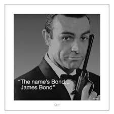 James Bond Quotes Gorgeous JAMES BOND QUOTE 48 X 48CM ART PRINT L 48 Store