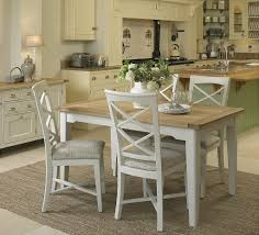 Exceptional Cottage Oak And Painted Small Extending Dining Table | White | Grey | Chalk  | Oak Furniture UK