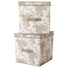 Decorative Cardboard Storage Box With Lid Furniture Vintage White With Leaves Brown Decorative Storage 49