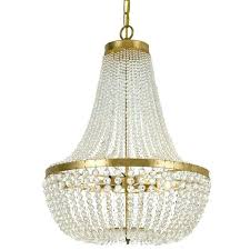 crystal beads for chandelier lighting group antique gold six light chandelier with hand cut faceted crystal