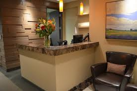 reception office design. Small Office Reception Area Design Ideas With Leather Armchair And Corner Desk Using Glass Pendant Lamps E