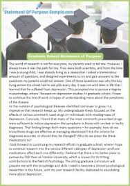 Professional Statement Of Purpose Graduate School Sample Statement