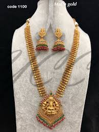 Temple Jewellery Gold Necklace Designs Temple Long Haaram Gold Jewelry Fashion Gold Necklace