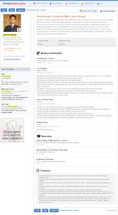 TimesJobs.com - Candidate Resume Detail Page