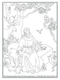 Saint Francis Coloring Page Saint Of Coloring Page Prayer Of St