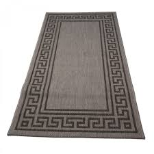 ambiente greek key grey bordered rug 1