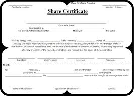 Form Of Share Certificate Company Share Certificate Template 1 Guatemalago