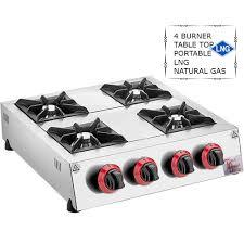Buy Online 4 Burner Lng Natural Gas Table Top Range Cooker