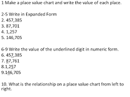 numeric form to word form with decimals place value quiz ppt download