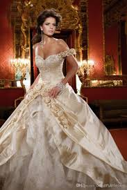 wedding dresses hot sale discount ball gown champagne wedding