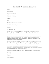 Academic Recommendation Letter For Scholarship - Tier.brianhenry.co