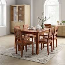 Solid wood dinning set Leather Chairs Flipkart Perfect Homes Purewood Sheesham Seater Dining Set Opindinfo Solid Woods Wardrobes Upto 75 Off On Woodness Dining Sets At Flipkart
