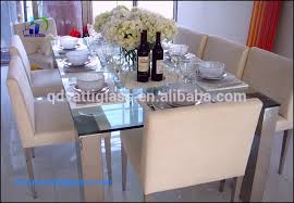 opaque glass dining table elegant tempered glass top round dining table rotating toughened glass top