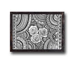 on mandala wall art nz with mandala roses art print zentangle mandalas spiritual