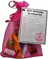 No matter what phase of life they're in, you're sure to find something suitable when browsing through these 30th birthday gift ideas. 30th Birthday Survival Kit Gift Novelty 30th Gift For Her Pink Bag 30th Birthday Gift 30th Birthday Present 30th Gifts For Her Female 30th Gift 30th Birthday Amazon Co Uk Kitchen