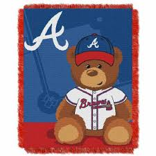 atlanta braves mlb field baby throw