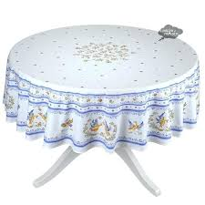 french tablecloth round round blue white french coated cotton tablecloth i dream of french provencal coated
