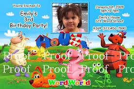 Word World Wow Wow Wubbzy Wonder Pets Invitations On Popscreen