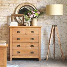 Pine Bedroom Chest Of Drawers Rustic Oak Chest Of Drawers 2 3 Including Free Delivery 608012