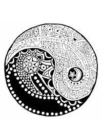 Adult Coloring Page Yin Yang Yin Yang Coloring Zen Coloring Pages
