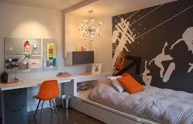 ikea boys bedroom kids contemporary with dark floor built in desk kids artwork