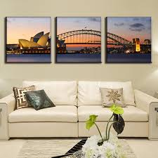 3 pcs set modern wall paintings the sydney opera house and sydney harbour bridge canvas prints art on canvas decorative picture in painting calligraphy  on wall art sydney with 3 pcs set modern wall paintings the sydney opera house and sydney