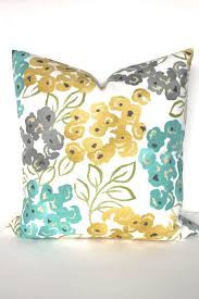 Teal And Grey Decorative Pillows