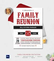 Family Reunion Flyer Templates Free 32 Family Reunion Invitation Templates Free Psd Vector Eps Family