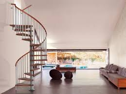 ... Exciting Spiral Staircase Decorating Design Ideas : Lovely House Design  Ideas With Wood Spiral Staircase Along ...