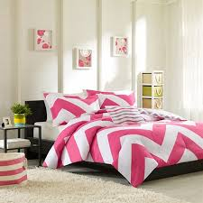 mizone libra chevron pink grey bedding