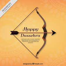Dussehra Charts For School Happy Dussehra Background With Bow Vector Free Download