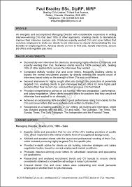CV Sample projet manager resume template