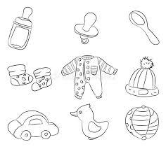 I Disegni Dei Bambini Stilizzati Illustrazione Vettoriale