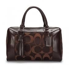 Coach Legacy Haley Medium Coffee Satchels AVW