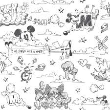Mickey Mouse Wallpaper For Bedroom Disney Mickey Mouse Pattern Pencil Cartoon Childrens Wallpaper