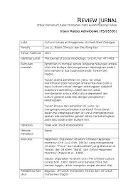 Contoh lembar critical review journal judul jurnal : Template Review Jurnal Psikologi