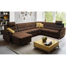 Couch Ls672117 Im Stoff Nougat Mit Kontrastnaht Und Alufüsse Inkl Motorischem Vorzug Wallaway Fun